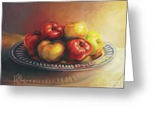 Christmas Apples Greeting Card
