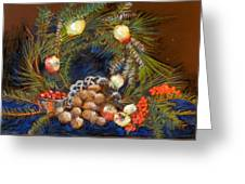 Christmas Arrangement Greeting Card by Lenore Gaudet