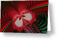 Christmas Butterfly Fractal 63 Greeting Card