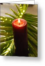 Christmas Candle 2 Greeting Card