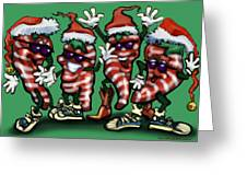 Christmas Candy Peppers Gang Greeting Card
