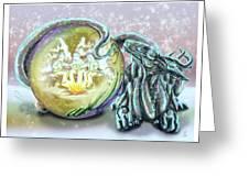 Christmas Card Dragon 2015 Greeting Card