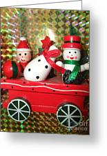 Christmas Cart Greeting Card