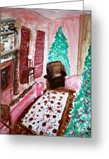 Christmas Cheer Greeting Card by Stanley Morganstein