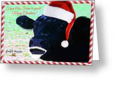 Christmas Cow Greeting Greeting Card