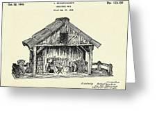 Christmas Crib-1940 Greeting Card