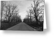 Christmas Day Country Road Greeting Card