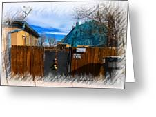 Christmas Down The Alleyway Greeting Card