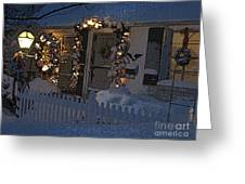 Christmas Eve At Home  Greeting Card