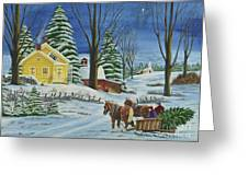 Christmas Eve In The Country Greeting Card