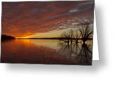 Christmas Eve Sunset  Greeting Card