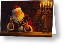 Christmas Eve Touch Up Greeting Card