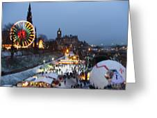 Christmas Fair Edinburgh Scotland Greeting Card