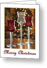 Christmas Glass Candle Holders Greeting Card
