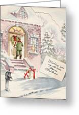 Christmas Greeting Card 36 - Snowy Winter Eve  Greeting Card