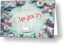 Christmas Greeting Card, By Imagineisle Greeting Card