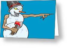 Christmas Horror Nightmares Greeting Card