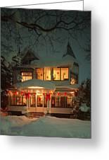 Christmas House Greeting Card