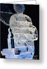 Christmas Ice Sculpture Angel Greeting Card