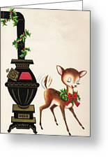 Christmas Illustration 1217 - Vintage Christmas Cards - Reindeer Greeting Card