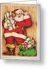 Christmas Illustration 1230 - Vintage Christmas Cards - Santa Claus With Christmas Gifts Greeting Card