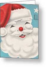 Christmas Illustration 1231 - Vintage Christmas Cards - Santa Claus Greeting Card