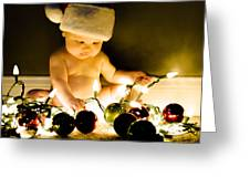 Christmas In A Baby's Eyes Greeting Card