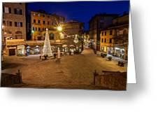 Christmas In Cortona 5 Greeting Card