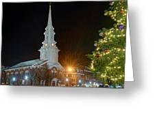 Christmas In Market Square Greeting Card
