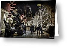 Christmas In Nyc Greeting Card