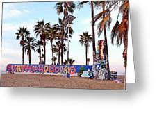Christmas In Venice Beach Greeting Card