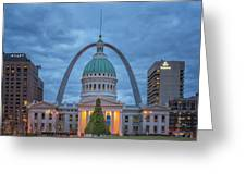 Christmas Jefferson National Expansion Memorial St Louis 7r2_dsc3574_12112017 Greeting Card