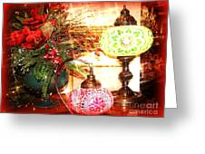 Christmas Lamps Greeting Card