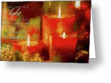 Christmas Light Greeting Card