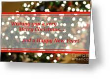 Christmas Lights Abstract Greeting Card