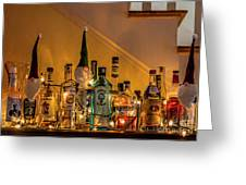 Christmas Lights And Bottles 4197t Greeting Card