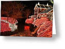 Christmas Lights At Clifton Mill Greeting Card
