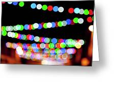 Christmas Lights Bokeh Blur Greeting Card
