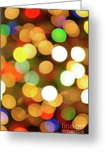 Christmas Lights Greeting Card by Carlos Caetano