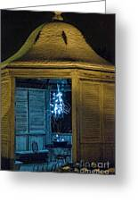 Christmas Lights In Gazebo Greeting Card