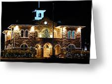 Christmas Lights In Sonoma, California Greeting Card