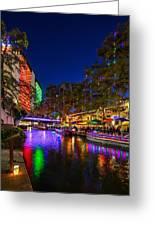 Christmas Lights On The Riverwalk 2 Greeting Card