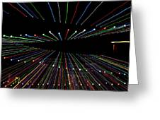 Christmas Lights Zoom Blur Greeting Card