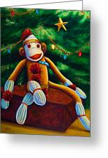 Christmas Made Of Sockies Greeting Card