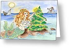 Christmas Mermaid Greeting Card