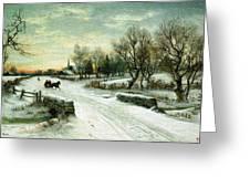 Christmas Morn Textured Greeting Card
