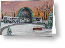 Christmas Morning At Sacred Heart Church Greeting Card