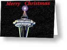 Christmas Needle Greeting Card