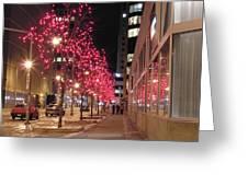 Christmas On Ottawa Street Greeting Card by Richard Mitchell