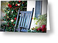 Christmas On The Porch Greeting Card